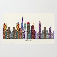 atlanta Area & Throw Rugs featuring Atlanta city  by bri.buckley