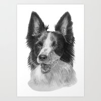 border collie Art Prints featuring Border collie by Doggyshop