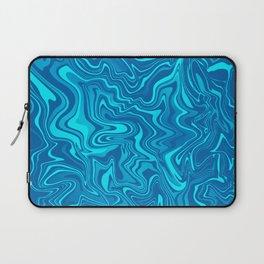 Blue Ocean Liquid Agate Laptop Sleeve