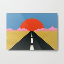Road To Sun Metal Print