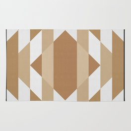 Geometric Art with Bands 10 Rug