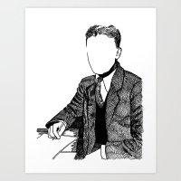 fitzgerald Art Prints featuring F. Scott Fitzgerald by AlphaVariable