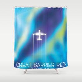 Great Barrier Reef , Queensland, Australia Shower Curtain
