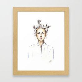 Asian girl Framed Art Print