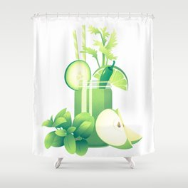 Green Fuel Shower Curtain