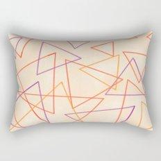 Warm Triangles Rectangular Pillow