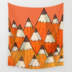 Pencil Mountains Wall Tapestry