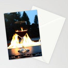 Fireside Wine I Stationery Cards
