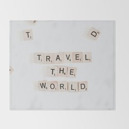 Travel the world Throw Blanket