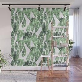 Island Goddess Leaf Green Wall Mural