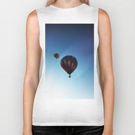 Rainbow Hot Air Balloons Biker Tank