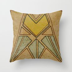 Arts & Crafts style tulip Throw Pillow
