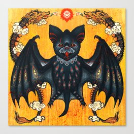 Black Bat Canvas Print