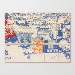 Nuremberg U-Bahn Memories - Rathaus Canvas Print