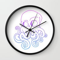 cthulu Wall Clocks featuring Call me Cthulu  by KickPunch
