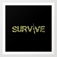 army Art Prints featuring Survive (Army) by eARTh
