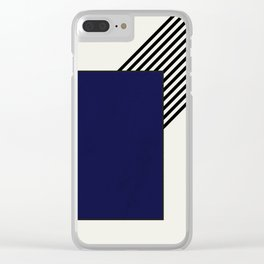 Blue with stripes Clear iPhone Case