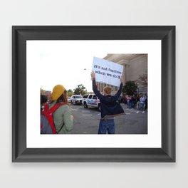 Not Fascism  Framed Art Print