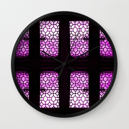VioletGlaze Wall Clock