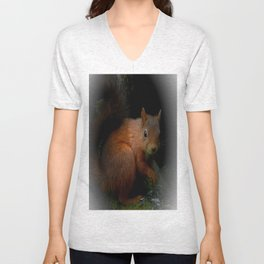 Red Squirrel Unisex V-Neck