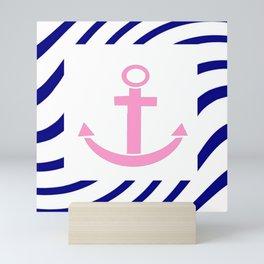 Anchor and marinière 1 Mini Art Print