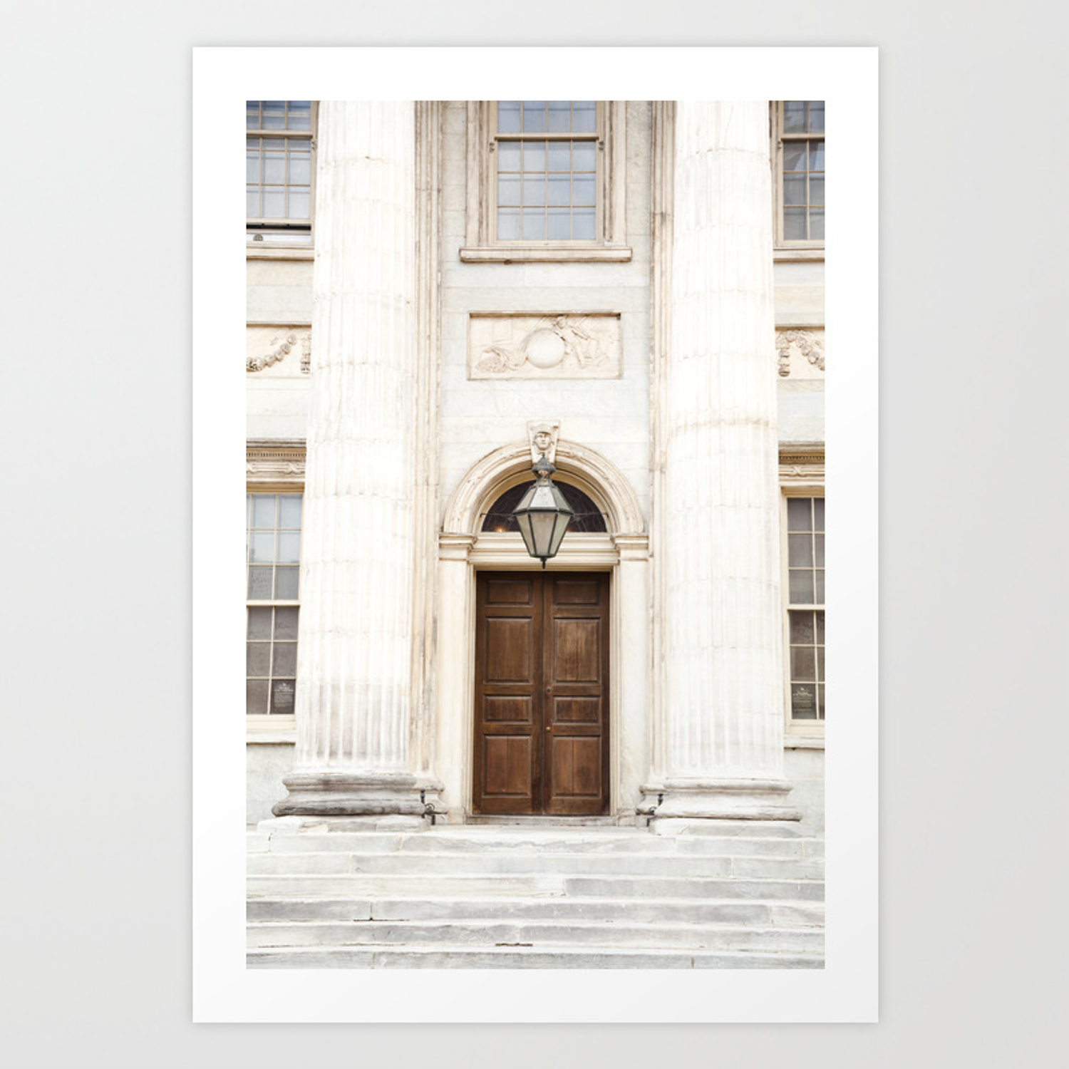 Beautiful building in old city philadelphia art print