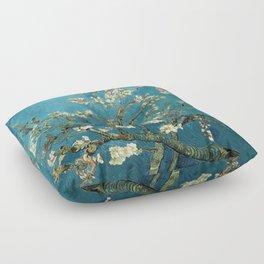 Blossoming Almond Trees, Vincent van Gogh. Famous vintage fine art. Floor Pillow