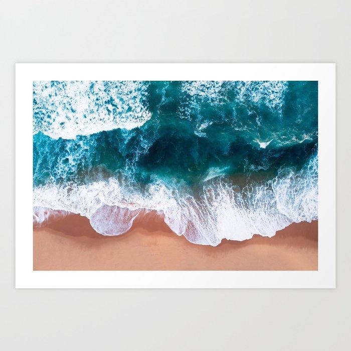 Aerial Foam Beach Kunstdrucke