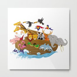 noah animals Metal Print