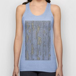 Cracked Paint Unisex Tank Top