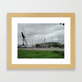 Etihad Stadium and the Last of the B of the Bang Framed Art Print