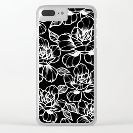 Black Roses Clear iPhone Case