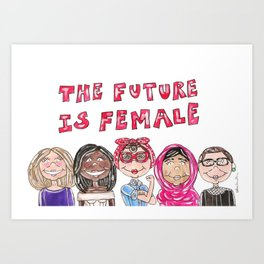 Future is Female Art Print