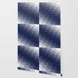 Navy Blue Triangles Minimal Wallpaper
