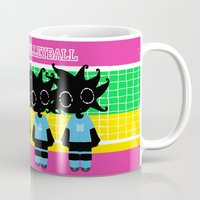 volleyball Mugs featuring We love Volleyball by BLOOP