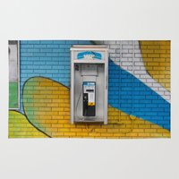 telephone Area & Throw Rugs featuring Telephone by RMK Photography