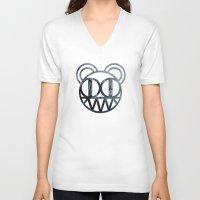 radiohead V-neck T-shirts featuring Radiohead by Skorokhodov Ivan