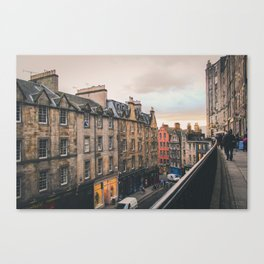 Edinburgh Sunset Canvas Print