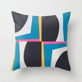 Modern Geometric 65 Blue Throw Pillow