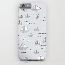 Little sailor Scandinavian style sailing boats nursery boys iPhone Case