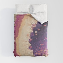 Blush Pink Geode Amethyst Comforters