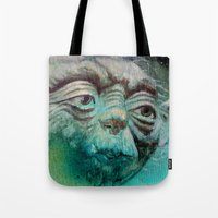 yoda Tote Bags featuring YODA by ARTito