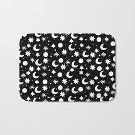 Cosmis space in black Bath Mat