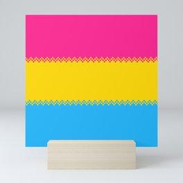 pixel pride- pansexual pride flag Mini Art Print