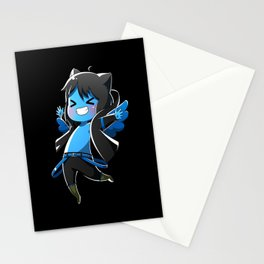 Chibi Luc (Expression 2) w/ Black Background Stationery Cards