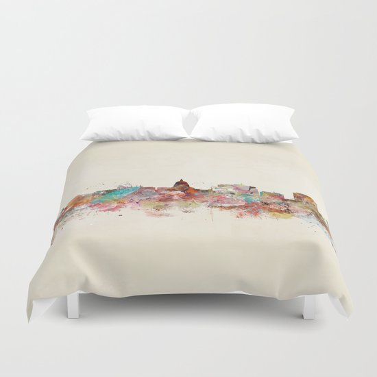madison wisconsin skyline Duvet Cover