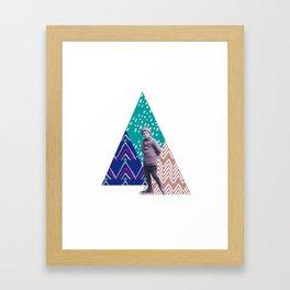 skieur Framed Art Print