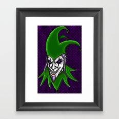 Dark Arts Evil Jester Clown Framed Art Print