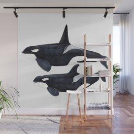 Orca male and female Wall Mural