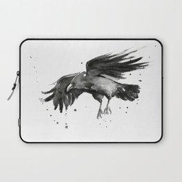 Raven Watercolor Laptop Sleeve